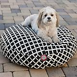 Majestic Pet Outdoor Black Bamboo Round Pet Bed