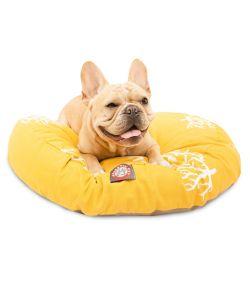 Miraculous Majestic Pet Outdoor Yellow Coral Round Pet Bed Creativecarmelina Interior Chair Design Creativecarmelinacom