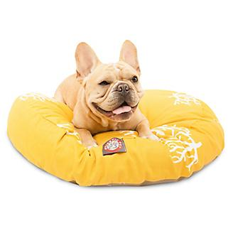 Majestic Pet Outdoor Yellow Coral Round Pet Bed