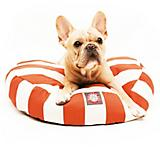 Majestic Pet Outdoor Orange Stripe Round Pet Bed