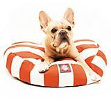Majestic Pet Outdoor Orange Stripe Round Pet Bed