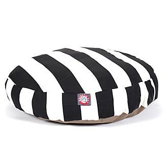 Majestic Pet Outdoor Black Stripe Round Pet Bed