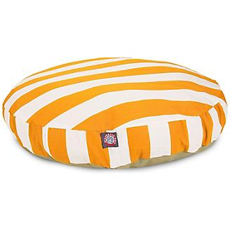 Majestic Pet Outdoor Yellow Stripe Round Pet Bed