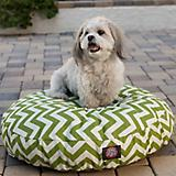 Majestic Pet Outdoor Sage Chevron Round Pet Bed