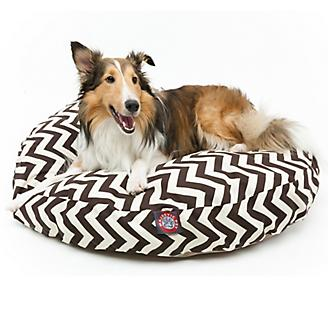 Majestic Outdoor Chocolate Chevron Round Pet Bed