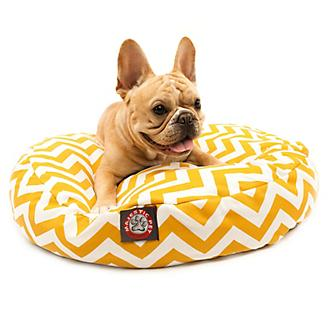 Majestic Outdoor Yellow Chevron Round Pet Bed