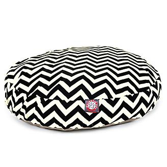 Majestic Pet Outdoor Black Chevron Round Pet Bed