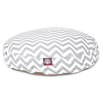 Majestic Pet Outdoor Grey Chevron Round Pet Bed