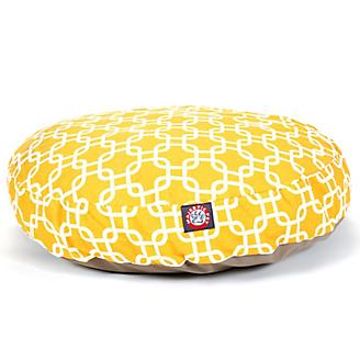 Majestic Pet Outdoor Yellow Links Round Pet Bed