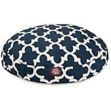 Majestic Pet Outdoor Navy Trellis Round Pet Bed