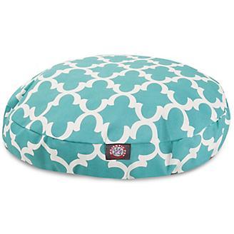 Majestic Pet Outdoor Teal Trellis Round Pet Bed