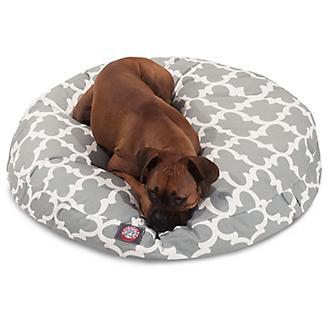 Majestic Pet Outdoor Grey Trellis Round Pet Bed