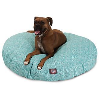 Majestic Pet Outdoor Teal Navajo Round Pet Bed
