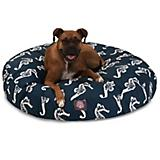 Majestic Outdoor Navy Sea Horse Round Pet Bed