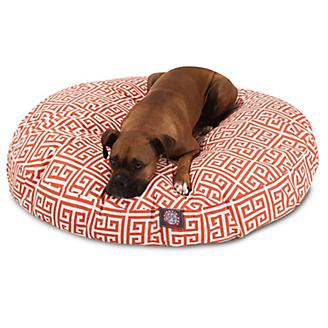 Majestic Outdoor Orange Towers Round Pet Bed