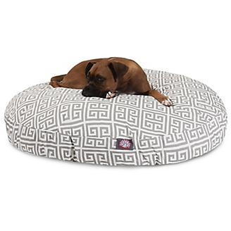 Majestic Pet Outdoor Grey Towers Round Pet Bed