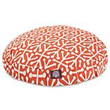 Majestic Pet Outdoor Orange Aruba Round Pet Bed