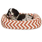 Majestic Pet Orange Chevron Sherpa Bagel Bed