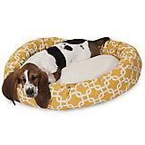 Majestic Pet Yellow Links Sherpa Bagel Bed