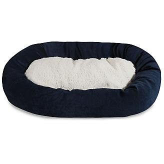 Majestic Pet Navy Villa Sherpa Bagel Bed