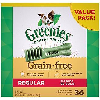 Greenies Grain Free Dog Dental Chew Regular