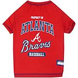 MLB Atanta Braves Dog Tee Shirt