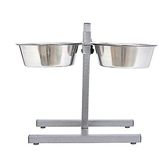 Adjustable Stainless Steel Pet Double Diner