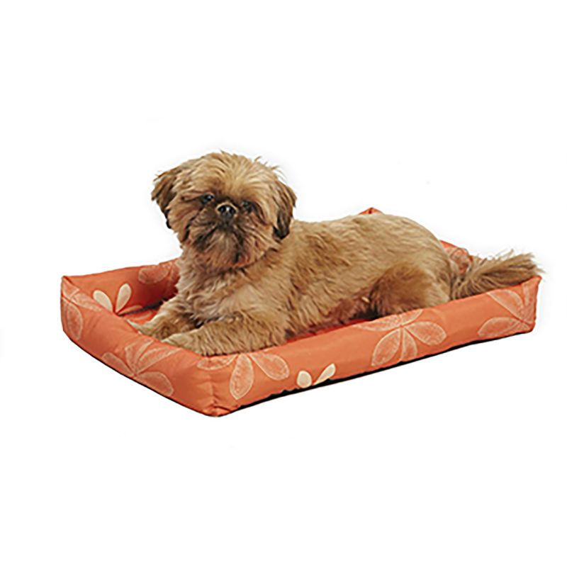 Midwest Orange Floral Paradise Dog Bed 22 inch
