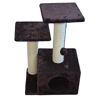 Iconic Pet Sisal Cat Scratching Tree w/Square Cave