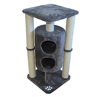Iconic Pet Sisal Cat Scratching Tree w/Dual Cave