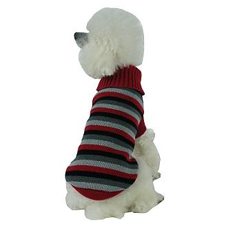 Pet Life Polo Casual Cable Knit Dog Sweater