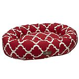 Jax and Bones Monaco Scarlet Donut Dog Bed