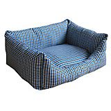 Pet Life Water Resistant Blue Plaid Dog Bed