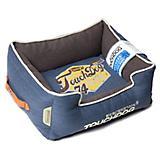 Touchdog Vintage Midnight Blue Bolster Dog Bed