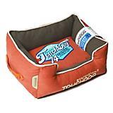 Touchdog Vintage Orange Bolster Dog Bed