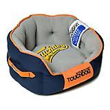 Touchdog Castle Bark Premium Blue/Gray Dog Bed
