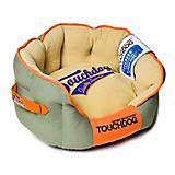 Touchdog Castle Bark Premium Gray/Beige Dog Bed