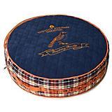 Touchdog Bark Royale Royal Blue Fleece Dog Bed