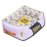 Touchdog Floral Lavender Bolster Dog Bed