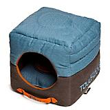 Touchdog Vintage 2in1 Denim/Brown Dog House Bed