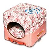 Touchdog Floral Galore 2in1 Pink Dog House Bed