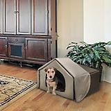Richell Charcoal Brown Convertible Pet Bed House