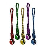 Nuts for Knots Tug with Tennis Ball Rope Dog Toy