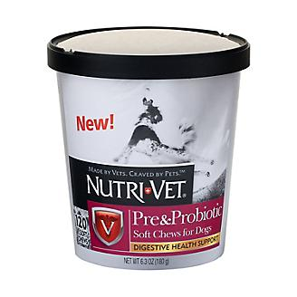 Nutri-Vet Pre/Probiotic Soft Chews for Dogs 120ct