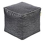 Jax and Bones Glitz Onyx Cotton Pouf Ottoman