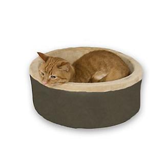KH Mfg Thermo-Kitty Mocha Heated Cat Bed