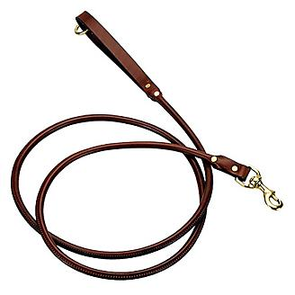 Mendota Leather Rolled Snap Dog Lead