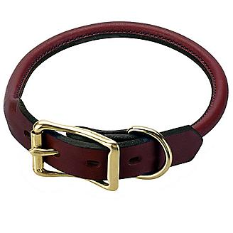Mendota Rolled Leather Dog Collar