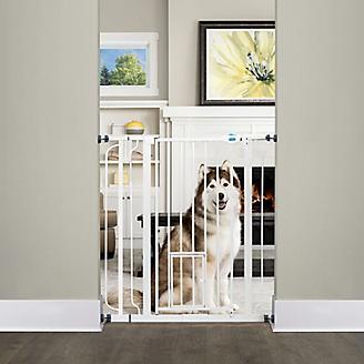 Extra Tall Walk Thru Gate w/ Pet Door