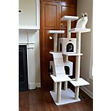 Armarkat Deluxe Cat Tree Model 77in Ivory